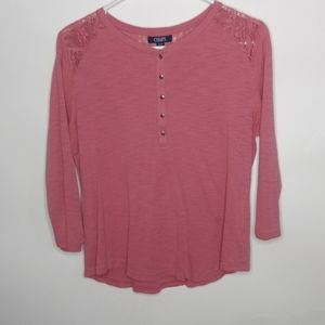 Chaps 3/4 sleeves shirt.size large
